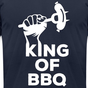 King of BBQ grill barbecue sausage T-Shirts - Men's T-Shirt by American Apparel