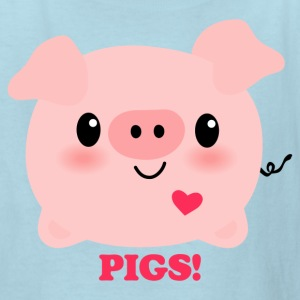 Kawaii I Love Pigs Kids' Shirts - Kids' T-Shirt