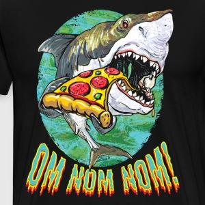 Great White Shark Loves Pizza - Men's Premium T-Shirt