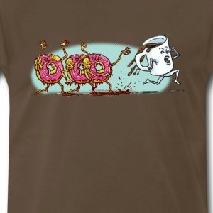Donut Zombies Chase Coffee - Men's Premium T-Shirt