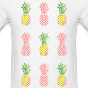 AD Pineapple Pattern Color T-Shirts - Men's T-Shirt