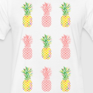 AD Pineapple Pattern Color T-Shirts - Fitted Cotton/Poly T-Shirt by Next Level