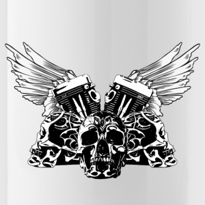 Tribal Skulls Biker Design 1 Sportswear - Water Bottle