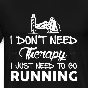 Running Therapy Shirts - Men's Premium T-Shirt