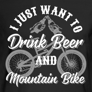 Drink Beer and Mountain Bike - Men's Long Sleeve T-Shirt