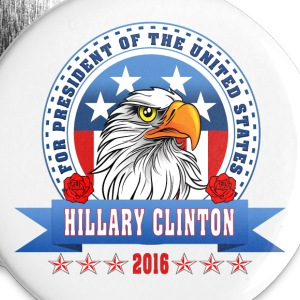 Hillary Clinton for president 2016 Eagle Head 3 Buttons - Small Buttons