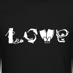 Love Scuba Diving Shirt - Crewneck Sweatshirt
