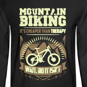 Mountain Biking Therapy Shirt - Men's Long Sleeve T-Shirt