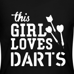 This Girl Loves Darts - Women's Long Sleeve Jersey T-Shirt