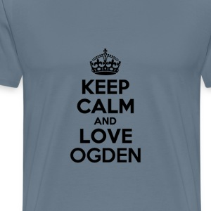 Keep calm and love ogden T-Shirts - Men's Premium T-Shirt