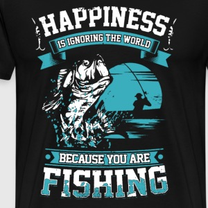 Fishing Happiness Shirt - Men's Premium T-Shirt