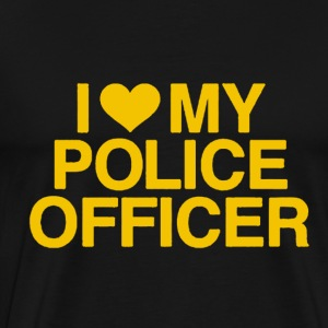 I Love My Police Officer - Men's Premium T-Shirt