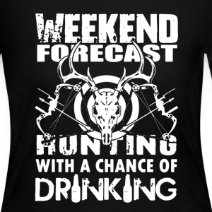 Hunting Weekend Forecast - Women's Long Sleeve Jersey T-Shirt