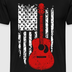 Guitar Flag Shirt - Men's Premium T-Shirt
