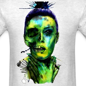 woman skull - Men's T-Shirt
