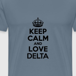 Keep calm and love delta T-Shirts - Men's Premium T-Shirt