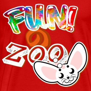 FUNのZOO FENNEC FOX (WHITE) - Men's Premium T-Shirt