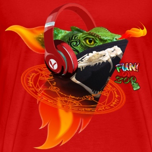 FLAME ON LIZARD ! (BLACK) - Men's Premium T-Shirt