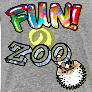 FUNのZOO BALLOON FISH (BLACK) - Men's Premium T-Shirt