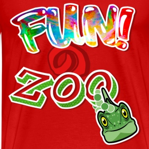 FUNのZOO LIZARD (WHITE) - Men's Premium T-Shirt