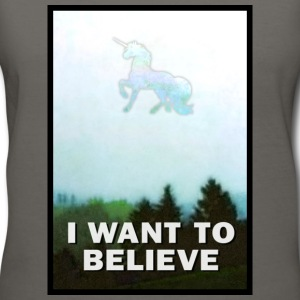 I Want to Believe Unicorn T-Shirts - Women's V-Neck T-Shirt