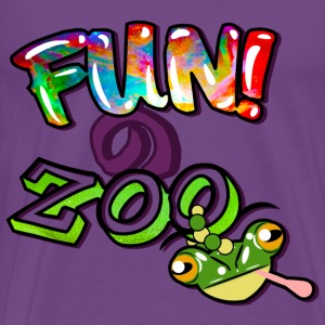 FUNのZOO FROG (BLACK) - Men's Premium T-Shirt