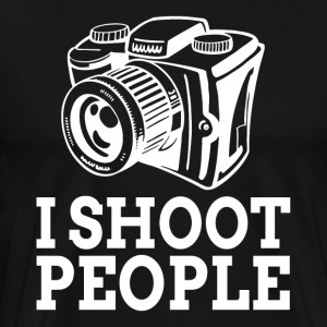 I SHOOT PEOPLE Photographer Camera T-Shirts - Men's Premium T-Shirt
