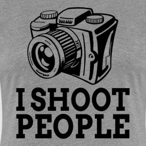 I SHOOT PEOPLE Photographer Camera T-Shirts - Women's Premium T-Shirt