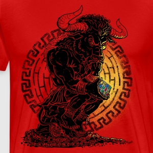 Puzzled Minotaur Mythology - Men's Premium T-Shirt