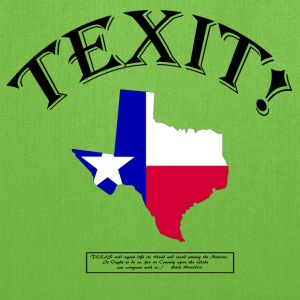 TEXIT! (With Sam Houston quote...!) Bags & backpacks - Tote Bag