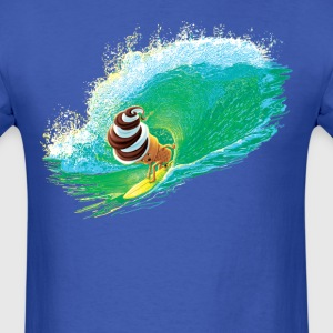 Ice Cream Cone Surfing - Men's T-Shirt
