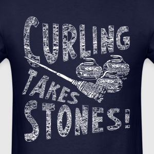 Curling Takes Stones - Men's T-Shirt