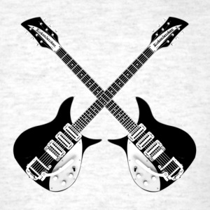 Rickenbacker black White - Men's T-Shirt