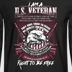 US Veteran Shirt - Men's Long Sleeve T-Shirt