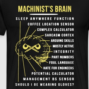 Machinist's Brain Shirt - Men's Premium T-Shirt