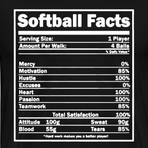 Softball Facts Shirt - Men's Premium T-Shirt