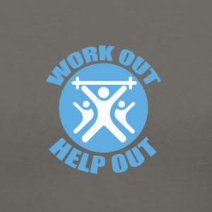 Work Out Help Out- Strength Through Service- Women - Women's V-Neck T-Shirt