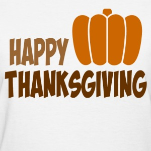 happy thanksgiving8967.png T-Shirts - Women's T-Shirt