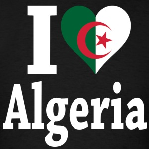 I Love Algeria flag t-shirt - Men's T-Shirt