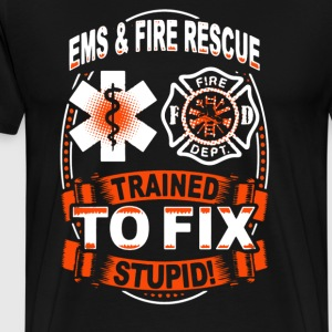 EMS And Fire Rescue Shirt - Men's Premium T-Shirt