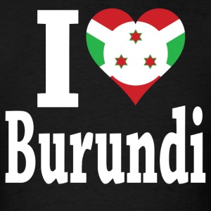 I Love Burundi Flag T-Shirt - Men's T-Shirt