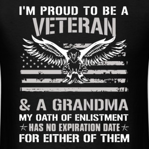 Proud Veteran and Grandma - Men's T-Shirt
