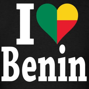 I Love Benin flag t-shirt - Men's T-Shirt