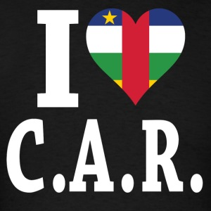I Love Central Africa Republic flag t-shirt - Men's T-Shirt