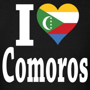 I Love Comoros Flag t-shirt - Men's T-Shirt