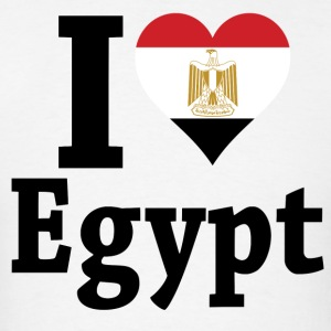 I Love Egypt Flag t-shirt - Men's T-Shirt
