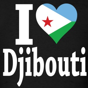 I Love Djibouti Flag t-shirt - Men's T-Shirt