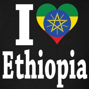 I Love Ethiopia Flag - Men's T-Shirt