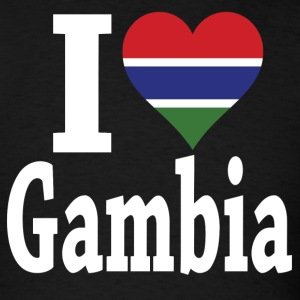 I Love Gambia Flag t-shirt - Men's T-Shirt