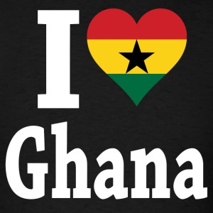 I Love Ghana Flag T-Shirt - Men's T-Shirt
